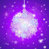 Christmas tree toy made of paper snowflakes. Stock Photo