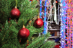 Christmas tree in a toy store. Photo of Christmas tree in a toy store Stock Images
