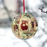 Christmas tree toy in the winter garden.  royalty free stock image