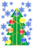 Christmas tree of toys Royalty Free Stock Photography