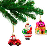 Christmas tree and toys Stock Image