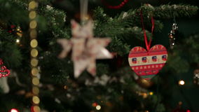 Christmas tree toys stock footage