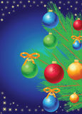 Christmas tree with toys Royalty Free Stock Photography