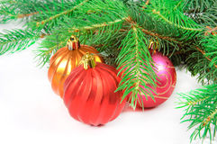 Christmas tree with toys stock photography