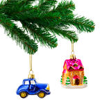 Christmas tree and toys Royalty Free Stock Photo