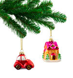 Christmas tree and toys Royalty Free Stock Images