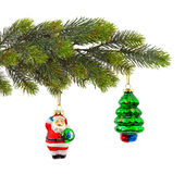 Christmas tree and toys Royalty Free Stock Photos