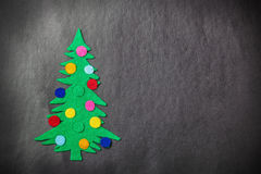 Christmas tree with toys made of felt Stock Images