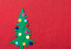 Christmas tree with toys made of felt Stock Image