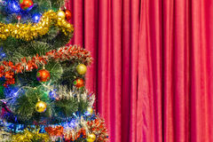 Christmas tree with toys Stock Photos