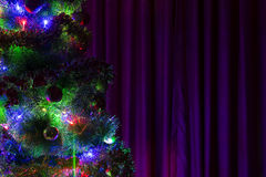 Christmas tree with toys Stock Images