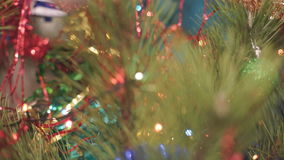 Christmas Tree with Toys stock video footage