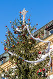 Christmas tree with toys Royalty Free Stock Photos