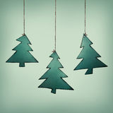 Christmas tree trailer. Illustration of three christmas tree trailers Royalty Free Stock Photography
