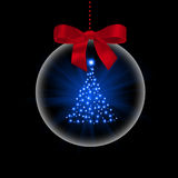 Christmas tree in transparent ball Stock Photo