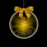 Christmas tree in transparent ball Stock Photography