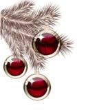 Christmas tree and transparent balls Stock Photography