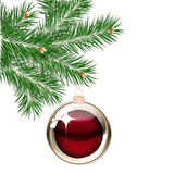 Christmas tree and transparent balls Royalty Free Stock Photo