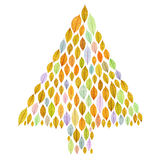 Christmas tree with transparent leaf Royalty Free Stock Photo