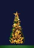 Christmas tree.  with  ornaments and illuminations Royalty Free Stock Photos