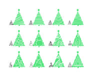 Christmas tree. S vector illustration icon Royalty Free Stock Photos