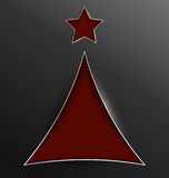 Christmas tree triangle cut of paper Royalty Free Stock Image