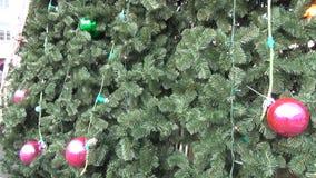 Christmas tree trim stock video