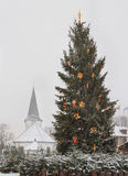 Christmas tree in Tukums. Royalty Free Stock Image