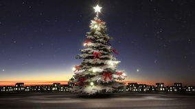 Christmas tree and twinkle gifts(included alpha) stock video