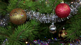 Christmas tree twinkle lights. FULL HD stock video