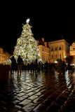Christmas Tree at the Tyn Church Place in Prague royalty free stock image