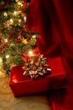 christmas tree under Στοκ φωτογραφία με δικαίωμα ελεύθερης χρήσης