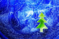 Christmas Tree Under Ice stock photography