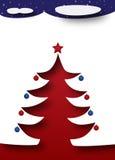 Christmas tree under a starry dark night sky. Merry Christmas and Happy New Year - Christmas Trees under a dark starry night sky. Snow everywhere royalty free illustration