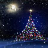 Christmas Tree! Unique Technique of Painting. Background. Royalty Free Stock Photography