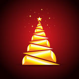 Christmas tree. Useful for Christmas backgrounds, themes, layouts Royalty Free Illustration