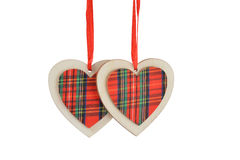 Christmas tree or valentines day decoration Royalty Free Stock Photo