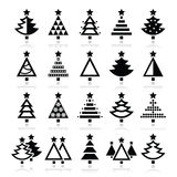Christmas tree - various types  icons set Stock Photography