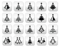 Christmas tree - various types vector buttons set Stock Image