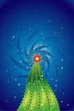 Christmas tree,vector. Christmas tree in the night,vector illustration Royalty Free Stock Photos