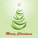 Christmas Tree Vector. Christmas tree with Merry Christmas text Stock Illustration
