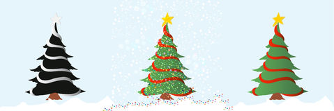 Christmas tree/vector Stock Photos