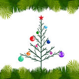 Christmas tree vector Stock Image