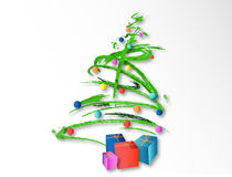 Christmas tree (vector) Royalty Free Stock Photos