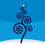 Christmas tree (vector). Stylized tree with christmas star Royalty Free Stock Photography