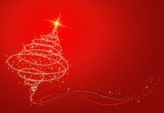 Christmas tree, vector. Shining christmas tree, vector illustration Stock Photo