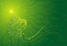 Christmas tree, vector. Shining christmas tree, vector illustration Stock Photos