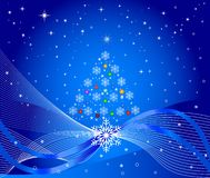 Christmas tree - vector royalty free stock photo