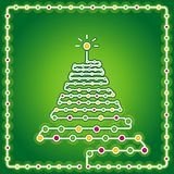 Christmas tree, vector Royalty Free Stock Photography