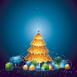 Christmas tree, vector Royalty Free Stock Image